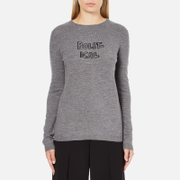 Bella Freud Women's Political Merino Wool Jumper - Grey