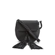 Rebecca Minkoff Women's Isobel Tassel Saddle Crossbody Bag - Black