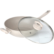 Salter Marble Collection 28cm Forged Aluminium Wok