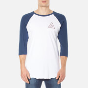 OBEY Clothing Men's Next Round 2 Raglan T-Shirt - White/Navy