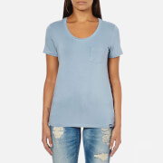 Superdry Women's Essentials Drapey Pocket T-Shirt - Blue Bird