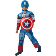 Marvel Avengers Boys' Deluxe Captain America Fancy Dress