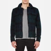 Carven Men's Checked Blouson Jacket - Multicolore