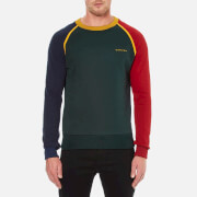 Carven Men's Colour Blocked Sweatshirt - Sapin/Encre/Grenat