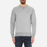 GANT Men's Original Crew Neck Sweatshirt - Grey Melange
