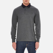 GANT Men's Soft Heather Heavy Rugger Polo Shirt - Graphite Melange