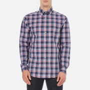 GANT Men's Dobby Plaid Shirt - Yale Blue