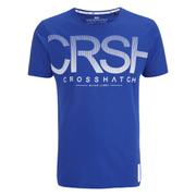 Crosshatch Men's Crusher Graphic T-Shirt - Mazarine Blue