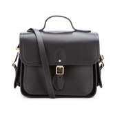 The Cambridge Satchel Company Women's Large Traveller Bag with Side Pockets - Black