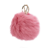 Furla Women's Bubble Keyring Pom Pom - Rose
