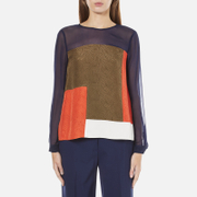 Diane von Furstenberg Women's Raegan Top - Midnight/Orange