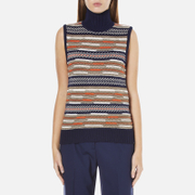 Diane von Furstenberg Women's Carsyn Jumper - Midnight/Orange