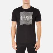 BOSS Green Men's Tee 8 Raised Print T-Shirt - Black