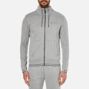 BOSS Green Men's Saggy Zipped Hoody - Grey