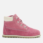 Timberland Toddlers' Pokey Pine Size Zip Lace Up Boots - Pink Nubuck