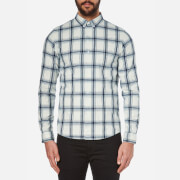 A.P.C. Men's Checked Buttoned Down Shirt - Ecru