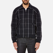 A.P.C. Men's Checked Teddy Jacket - Dark Navy