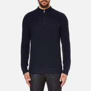 A.P.C. Men's A.P.C. X Louis Wong Quarter Zip Jumper - Marine