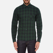 J.Lindeberg Men's Daniel Soft Check Shirt - Green