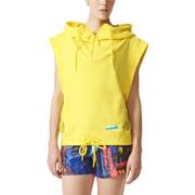 adidas Women's Stellasport Sleeveless Gym Hoody - Yellow