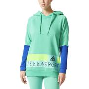 adidas Women's Stellasport Long Gym Hoody - Green/Blue