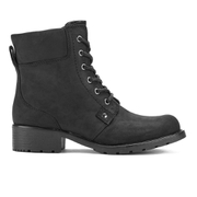 Clarks Women's Orinoco Spice Leather Lace Up Boots - Black