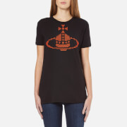 Vivienne Westwood Anglomania Women's Embroidered Orb T-Shirt - Black