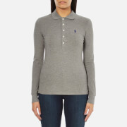 Polo Ralph Lauren Women's Julie Long Sleeve Polo Shirt - Soft Flannel Heather
