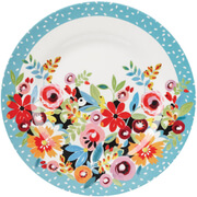"Collier Campbell Flowerdrop Melamine 10"""" Plate"