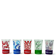 Cookut Set of 5 Recipe Shot Glasses 75ml