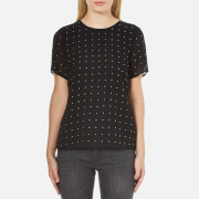 MICHAEL MICHAEL KORS Women's Studded T-Shirt - Black