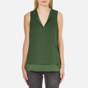 MICHAEL MICHAEL KORS Women's Open Neck Tank Top - Moss