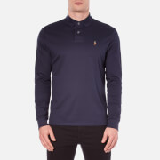 Polo Ralph Lauren Men's Long Sleeve Custom Fit Polo Shirt - French Navy