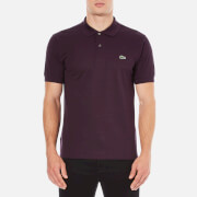 Lacoste Men's Basic Pique Short Sleeve Marl Polo Shirt - Bougainvillea Mouline