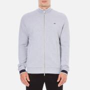 Lacoste Men's Zip Through Sweatshirt - Silver Chine