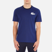 Lacoste L!ve Men's Large Logo Crew T-Shirt - Jazz/White/Navy Blue