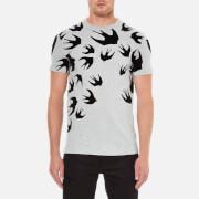 McQ Alexander McQueen Men's Swallow Swarm Flock T-Shirt - Mercury Melange