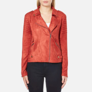 MINKPINK Women's Now Or Never Faux Suede Jacket - Rust