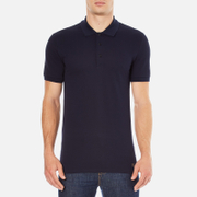 Versace Collection Men's Collar Detail Polo Shirt - Navy