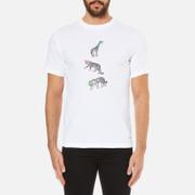 PS by Paul Smith Men's Crew Neck Short Sleeve Animal Logo T-Shirt - White