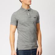 Superdry Men's Classic Pique Polo Shirt - Flint Steel Grit