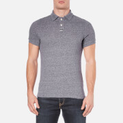 Superdry Men's Classic Grindle Pique Short Sleeve Polo Shirt - Navy Grit Grindle