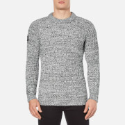 Superdry Men's Nordic Depth Crew Jumper - White/Black Twist