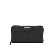 Karl Lagerfeld Women's K/Klassik Zip Around Wallet - Black