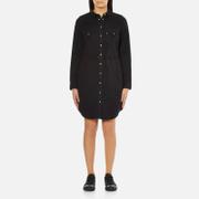 Levi's Women's Long Sleeve Iconic Western Dress - Black Ink