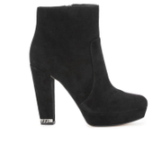 MICHAEL MICHAEL KORS Women's Sabrina Suede Heeled Ankle Boots - Black