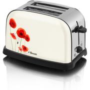 Swan ST16020POPN Poppy 2 Slice Toaster - White