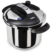 Tower One Touch Pressure Cooker 6L - Stainless Steel