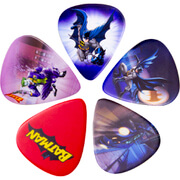 Lot de 5 médiators pour Guitare Batman