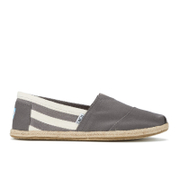 TOMS Men's University Classics Slip-On Pumps - Dark Grey Stripe